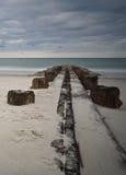 Pilier à l'île de Pawleys Image stock