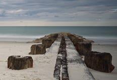 Pilier à l'île de Pawleys Photographie stock