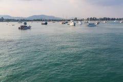 Pilier à la baie de Chalong, Phuket, Thaïlande Photographie stock