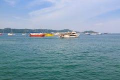 Pilier à la baie de Chalong, Phuket, Thaïlande Photos stock