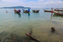 Pilier à la baie de Chalong, Phuket, Thaïlande Photographie stock libre de droits
