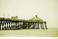 Pilier à la plage impériale photographie stock libre de droits