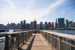 Pilier à la ville de parc et de Manhattan d'état de plaza de portique Images libres de droits