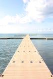 Pilier à une belle destination de vacances Photographie stock libre de droits