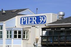 Pilier 39 San Francisco Photo libre de droits