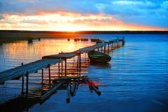 Pilier au coucher du soleil Photo libre de droits