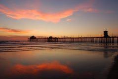Pilier au coucher du soleil Photographie stock libre de droits