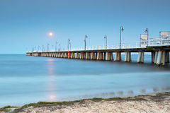 Pilier baltique à Gdynia Orlowo Photographie stock