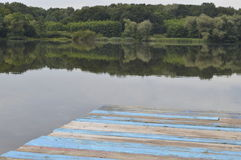Pilier bleu Photographie stock