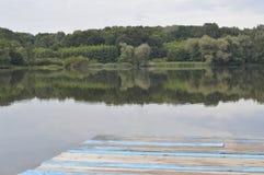 Pilier bleu Image stock