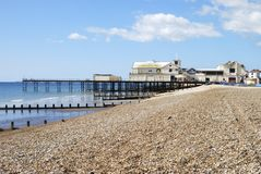 Pilier chez Bognor REGIS. Le Sussex. LE R-U Photo stock