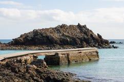 Pilier d'île de Lobos image libre de droits