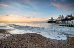 Pilier d'Eastbourne dans le Sussex photographie stock