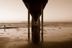 pilier d'océan de plage Photos stock