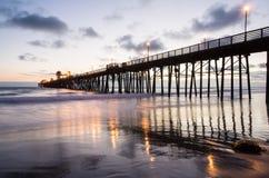Pilier d'Oceanside Images stock