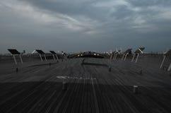 Pilier d'Osanbashi - terminal pour passagers international de Yokohama au Japon Photo libre de droits