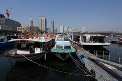 Pilier d'Osanbashi, Yokohama, Japon Image libre de droits