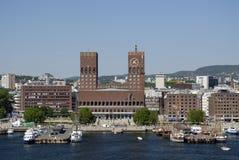 Pilier d'Oslo en Norvège Image stock