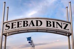 Pilier dans Binz, île de Ruegen, Allemagne image libre de droits