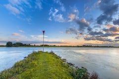 Pilier dans le Rhin photos libres de droits