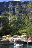 Pilier dans Sognefjord Images libres de droits