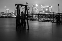 Pilier de Canary Wharf Images libres de droits