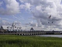 Pilier de Charleston Waterfront Park images stock