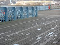 Pilier de Chatham, donnant sur la rivière Medway Image libre de droits