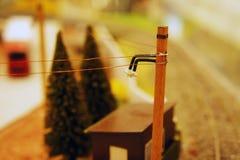 Pilier de chemin de fer de Miniatural Photos libres de droits