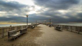 Pilier de Coney Island images libres de droits