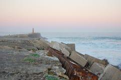 Pilier de coucher du soleil Images libres de droits
