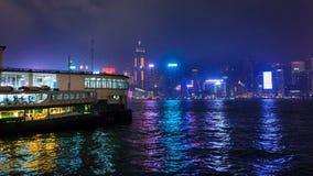 Pilier de ferry d'étoile de nuit images libres de droits