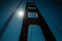 Pilier de golden gate bridge Image libre de droits