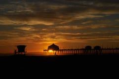 Pilier de Huntington Beach Photo libre de droits