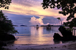 Pilier de Koh Mak Photo stock