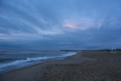 Pilier de lever de soleil de Virginia Beach Photo libre de droits