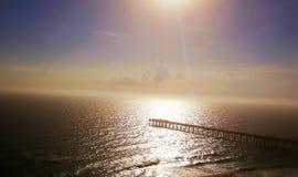 Pilier de Malibu Photographie stock