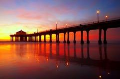 Pilier de Manhattan Beach Photographie stock