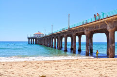 Pilier de Manhattan Beach Photo libre de droits