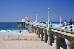 Pilier de Manhattan Beach Image libre de droits