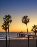 Pilier de Manhattan Beach photo libre de droits