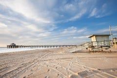 Pilier de Manhattan Beach et mirador de durée Images stock