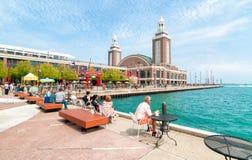 Pilier de marine de Famouse, Chicago, l'Illinois, Etats-Unis Photographie stock libre de droits