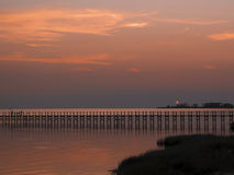 Pilier de Nagshead au coucher du soleil Photo stock