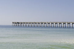Pilier de pêche à Pensacola Photographie stock