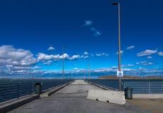 Pilier de pêche d'île d'écrou photos stock