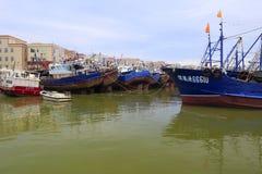 Pilier de pêche d'île de Wuyu Photos stock