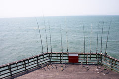 Pilier de pêche de la Caroline du Nord Photographie stock libre de droits