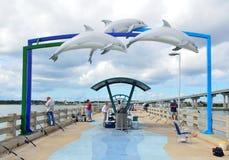 Pilier de pêche de plage de Vilano Image libre de droits