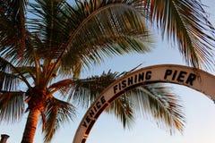 Pilier de pêche de Venise Photographie stock
